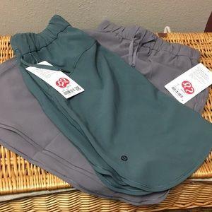 2 bundle new! Lululemon on the fly skirts Sz 4